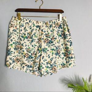 Anthropologie Eloise Flowy Floral Print L Shorts